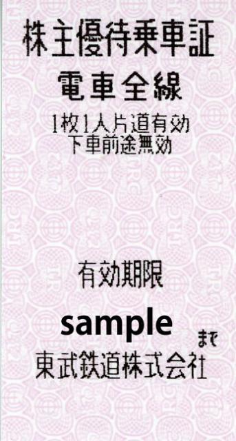 ~6/30 東武株主優待きっぷ お値下げしました!
