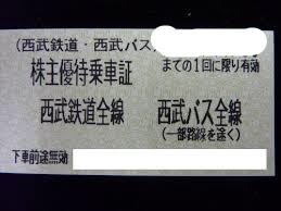 ~5/末まで有効!西武鉄道株主優待きっぷ☆値下げしました。