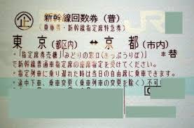 高価買取!!東京ー京都 新幹線回数券